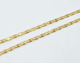 """18K Gold Filled Chain 17.75"""" Inch CG131"""