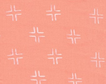 Trellis - Coral - 1/2 Yard -  From Brush Strokes by Holly DeGroot for Cloud9 Fabrics