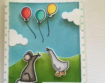 Cute animals Birthday card