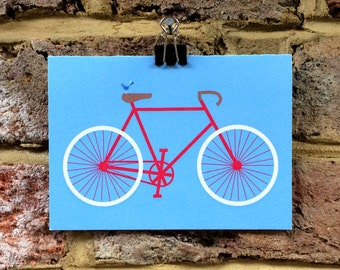Bike greetings card