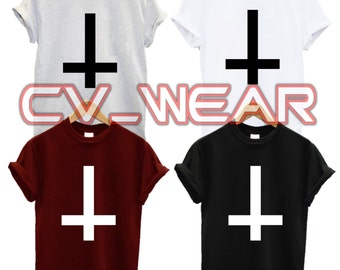 inverted cross t shirt hipster tumblr fashion swag dope mens womans unisex new