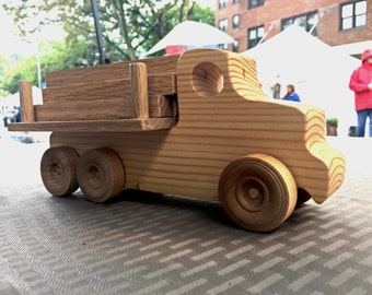 Wooden Toy Truck // Platform~Lumber Truck // il camion piattaforma // Pane Perso Woodcrafts