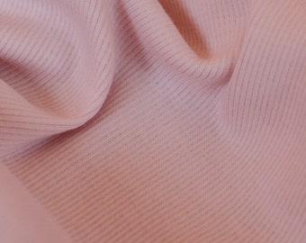 1yd x 52'' Light Pink Super Soft Medium Weight Jersey Knit Rib Fashion Fabric / 94/6 Cotton/LY / by the yard