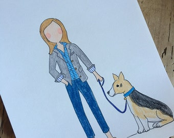 Personalized Illustrated Portrait and Stationery