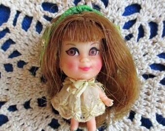 Liddle Kiddles Lou Locket, 1960s Doll, Vintage Doll