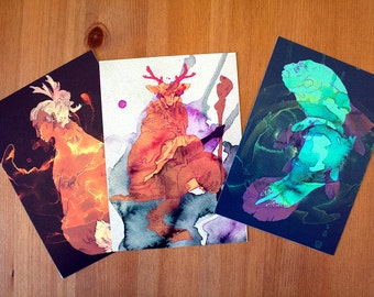 Postcard SET Humanimal
