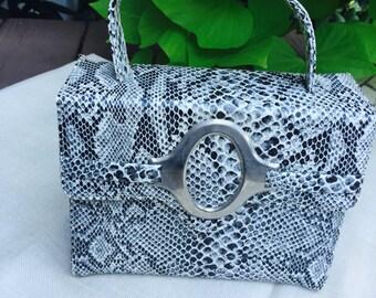 1960's Vintage faux snakeskin purse