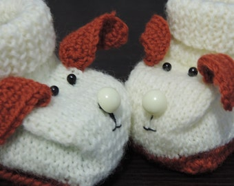 SALE !!! Boots for newborns Crochet knitting baby booties