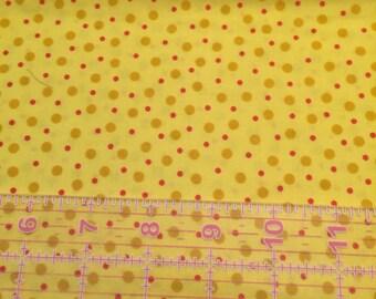 Yellow Dot Fabric Half Yard