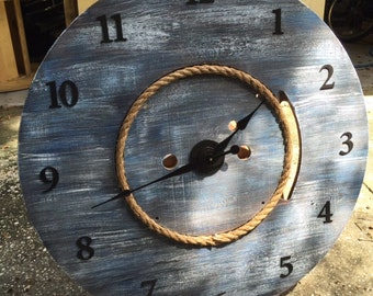 Large Nautical Look Wall Clock