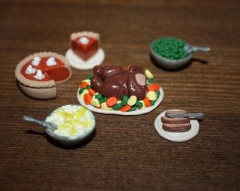 Thanksgiving dinner. Polymer clay
