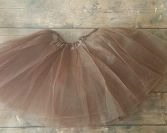 Girls Brown Tutu - brown tutu, girls brown tutu, toddler girls brown tutu, thanksgiving tutu, chocolate brown tutu