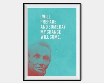 Abraham Lincoln Quote wall art,positive inspirational poster, wall decor