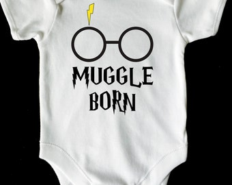 MUGGLE BORN HARRY Potter baby vest grow white all sizes available