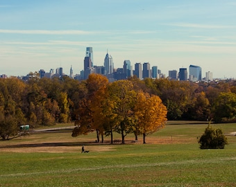 Skyline of Philadelphia in the Fall