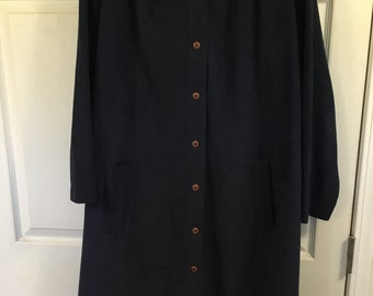 Clearance...18.00......Plus size...Navy blue polyester Designer Amy Adams vintage dress...size 3X