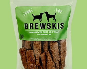 Dog Brewskis: Homemade Dog Treats Using Spent Grain from Craft Beer Brewing | 48 Pack