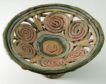 Decorative Pottery Bowl, Kitchen Serving Dish, Ceramic Serving Fruit bowl, Serving Bowl, Pottery Bowl