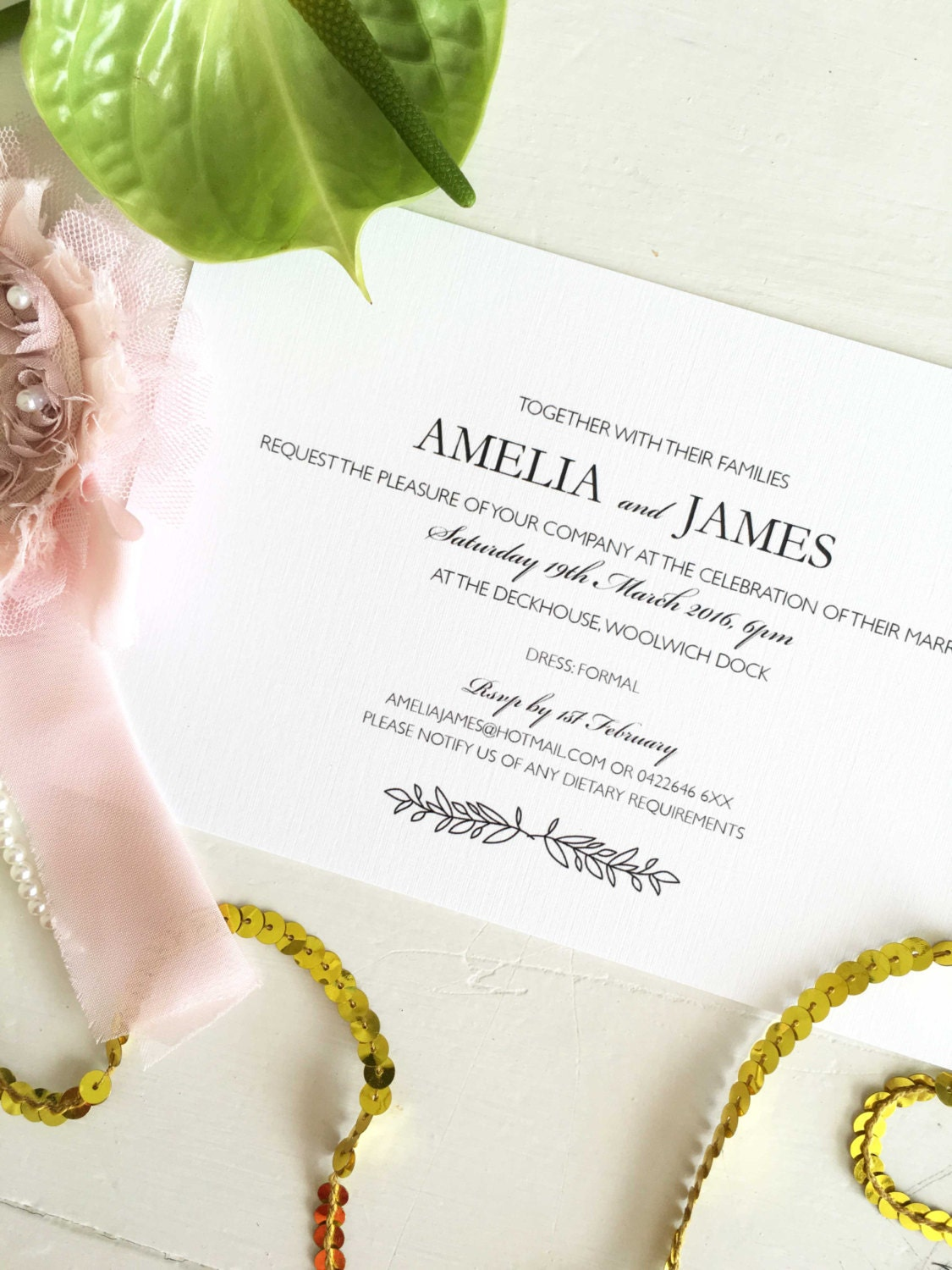 Engagement Invitation, Custom Engagement Invite, Simple Engagement ...