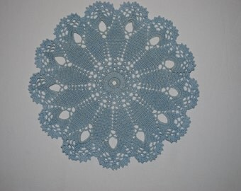 Crochet doily / lace / blue