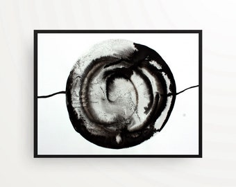 Abstract original black and white modern art home decoration A3