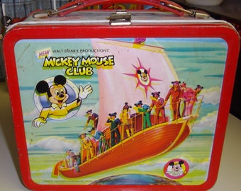 Vintage Walt Disney Mickey Mouse Club metal lunchbox 1977-1978