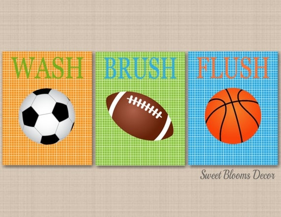 Sports Bathroom Decorkids Sports Bathroom Wall Artsoccer