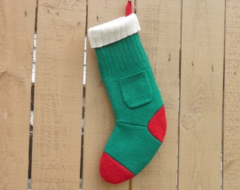 Felted Wool Sweater Stocking