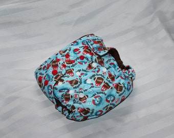 Ooga Booga Football All in One Cloth Diaper