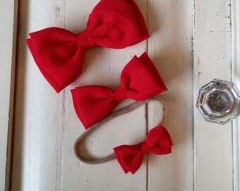 Red Chiffon Bow