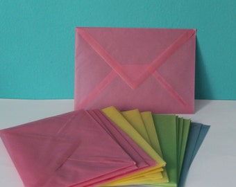 20 transparent envelopes in parchment paper Envelope