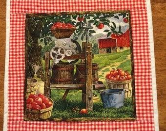 Apple harvest vintage scene placemat