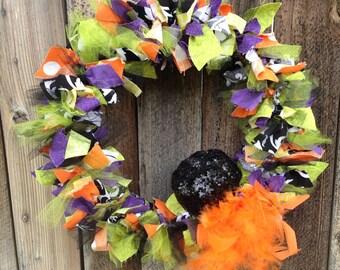 Halloween Wreath - Halloween Ribbon Weath - Holiday decor