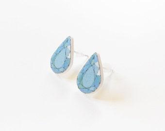 Gemstone Stud Earrings turquoise