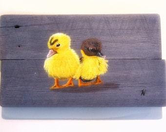 2 wet ducklings
