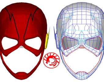 The Flash Mask Pepakura File