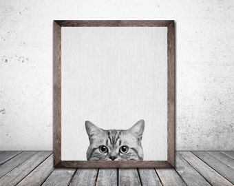 Cat Print Kitten Print Cat Art Printable Art Print Download Animal Print Nursery Print Rabbit Poster