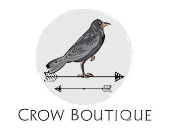 Crow logo etsy custom logo design crow logo designcrow and arrow logo bird logo sciox Choice Image