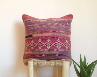 TRIBAL BERBER PILLOW - Handmade Wool Moroccan Cushion