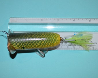 Handmade Wooden Squtter Bug Fishing Lure (#8)