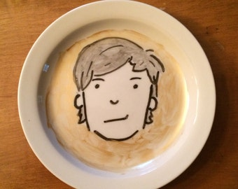 Louis Tomlinson Hand Painted Decorative Plate - One Direction