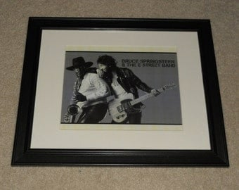 "Framed Bruce Springsteen Born to Run 1975 Mini-Poster, 14"" by 17"" Clarence Clemons E Street Band"
