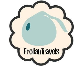 Frolian Travels Logo sticker