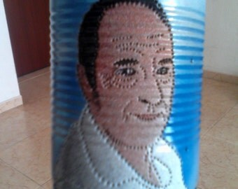 PORTRAIT - Tin can lantern - Upcycling