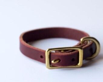 "1/2"" Leather Dog Collar"