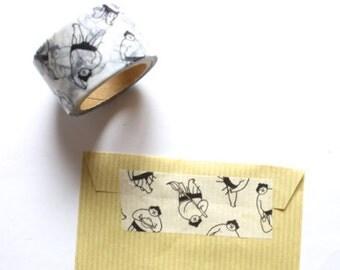 Sumo wrestler Masking Tape - Japanese washi