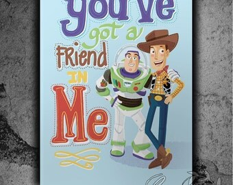 You've Got a Friend in Me Toystory Nursery Print instant digital download