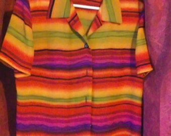 vibrant colorful boho blouse