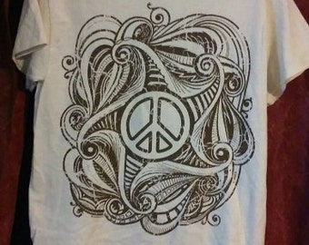 hippie peace t-shirt