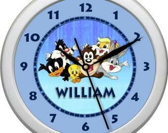 "Baby Looney Tunes Personalized 10"" Nursery / Children Wall Clock"